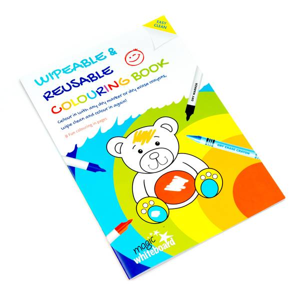kids wipeable colouring book, reusable colouring book