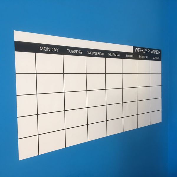 Weekly Planner, Whiteboard Wall Planner, WEEKLY PLANNER - By Day - 120cm by 60cm