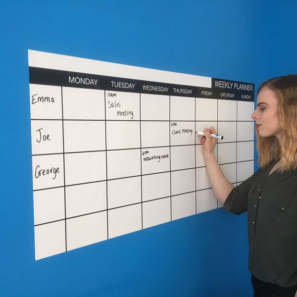 🗓️ Whiteboard Wall Planner | Monthly Whiteboard Planners | Weekly Whiteboard Planners