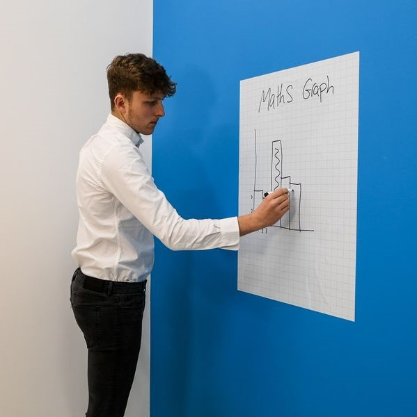A1 Gridded Magic Whiteboard, Whiteboard Sheets, Magic Whiteboard Dry Erase Sheets, Whiteboards