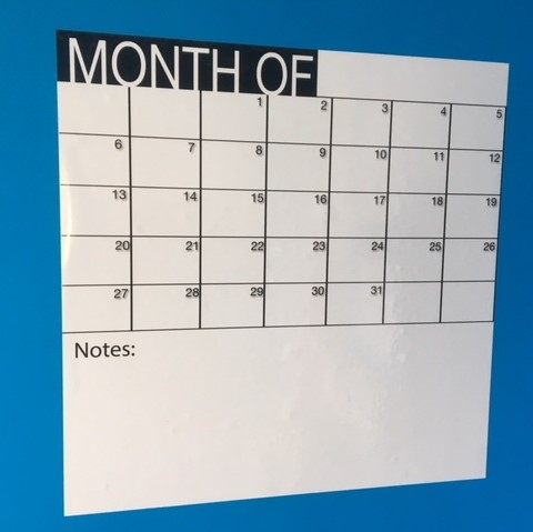 Monthly Planner - Whiteboard Calendar - 50cm by 50cm