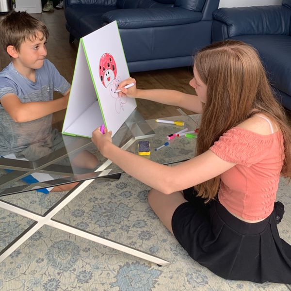 🧲 Kids Tabletop Whiteboard, Folding Tabletop Whiteboard, Magnetic Whiteboard Easel