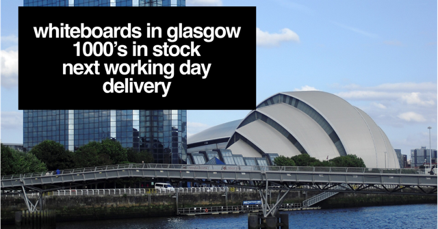 Looking for a whiteboard in Glasgow? We can deliver Magic Whiteboard, magnetic whiteboard whiteboard and white boards to all these Glasgow areas. Glasgow whiteboard near me.