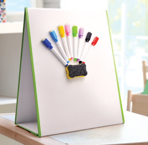 NEW -  £19.99 Folding wedgeboard whiteboard - Double sided (magnetic & dry erase) -  School Wedge whiteboards - A3 Size - Portable whiteboard - Folding magnetic wedge whiteboard - Only £19.99