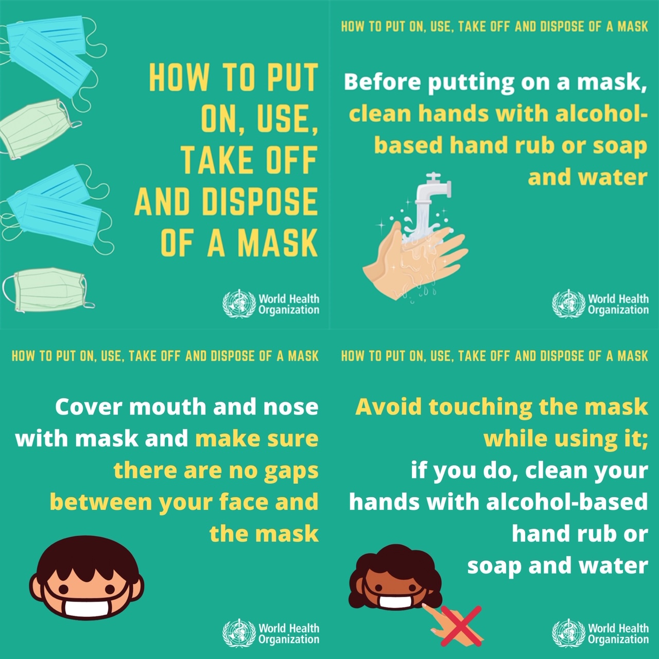 Never worn a face mask before? How to put on a face mask, use, take off and dispose